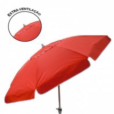 Ombrellone Quadrado 2,00x2,00m Vermelho Armação em Madeira 303104 - Belfix