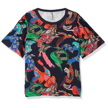 Camiseta Estampa Mulheres, Colcci, Feminino, Marinho/Verde/Off/Rosa/Preto/Azul/Amarelo/Vermelho/Laranja/Bege, PP