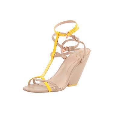 Sandália Zeferino Com Tiras Bicolor