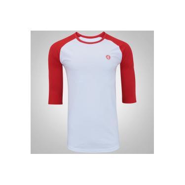 Camiseta Manga 3 4 do Internacional Meltex - Masculina - BRANCO Meltex 4da1ae3e5d894