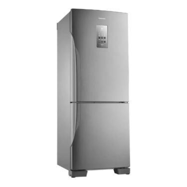 Imagem de Geladeira Inverter Frost Free Panasonic Nr-bb53pv3 Aço Inoxidável Com Freezer 425l 127v
