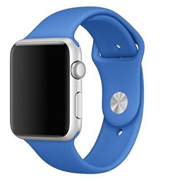 Pulseira Sport em Silicone para relógio Apple Watch 42mm Series 3 2 1 (Azul Royal 42mm ML)