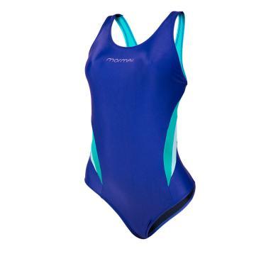 Maiô nadador tira larga liso cores mormaii   Azul-turquesa M