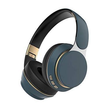 Imagem de Generic com fio/Sem Fio Bluetooth com Cancelamento de Ruído Fones de Ouvido Fone de Ouvido Dobrável com Microfone para PC TV - Azul