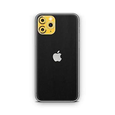 Skin Adesivo Traseira Preta com amarelo Para Iphone 11 Pro Max