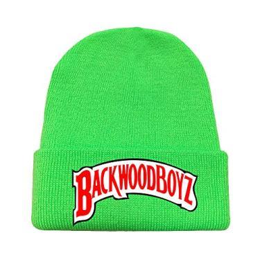 2020 Unissex Backwoods Chapéus de Malha Punho Sólido Gorro Gorro Quente Inverno para Homens e Mulheres Chapéu Moderno Backwoods, Verde, tamanho �nico