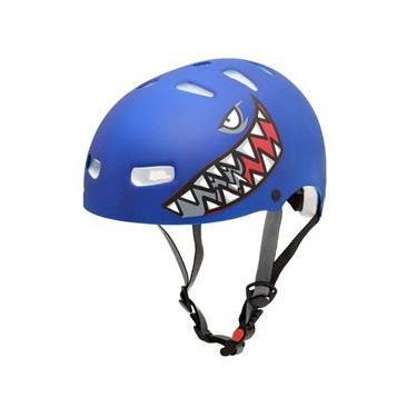 Capacete Kraft Bike Tubarão Azul P