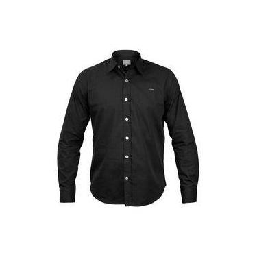 1dc68afd55 Camisa Social Preta Manga Longa Polo Usa