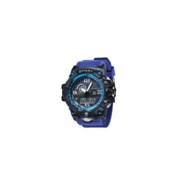398047a339b Relógio G-Shock Analógico Digital Pulseira Azul Amuda