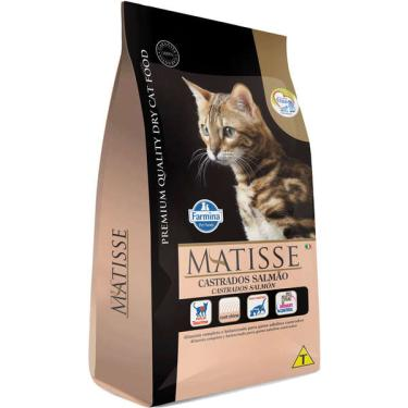 Ração Farmina Matisse Salmão para Gatos Adultos Castrados - 800 g