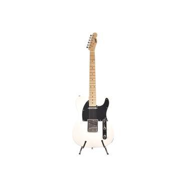 Guitarra Telecaster Land Branca Com Escudo Preto L-T1We/E