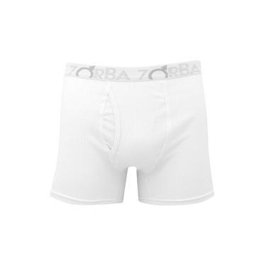 Cueca Zorba Boxer Flex Algodão c/ Abertura Branca