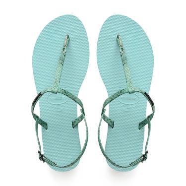 Sandálias Havaianas You Riviera Croco Azul  feminino