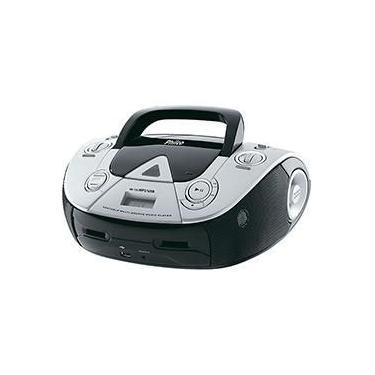 Som Portátil Philco PB126 USB 4W com CD Player MP3 Rádio FM Entrada e Auxiliar de Áudio