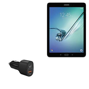 Carregador de carro BoxWave para Galaxy Tab S2 (9,7) [SwiftCharge PD QC4.0 Carregador de carro Plus (60W)] Carregador de carro PD QC4.0 de 60 W de alta potência para Samsung Galaxy Tab S2 (9,7) - Preto