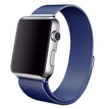 Pulseira Kopeck Magnética Azul Apple Watch 42 e 44mm Série 1 2 3 4