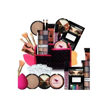 Imagem de Kit Maquiagem Pincel Completo Bella Femme 23 Itens Pele Morena