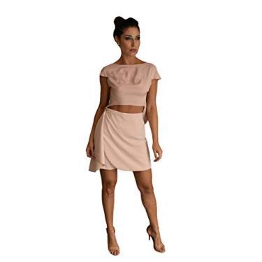 Shorts Pina Tamanho:42;Cor:Nude Rosé Rosa