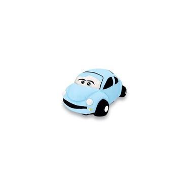 Imagem de Carro Fusca Pelucia Azul 18x33 Cm Lavavel Antialérgico