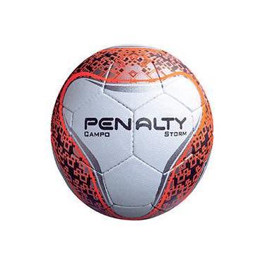 df2599c95a Bola de Campo Penalty Storm Branco Laranja e Preto
