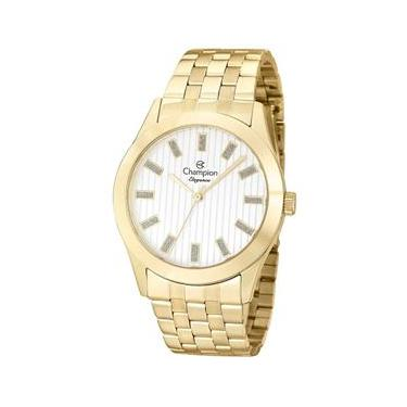 8c8855f66e5 Relógio Feminino Analógico Champion CN26706H - Dourado