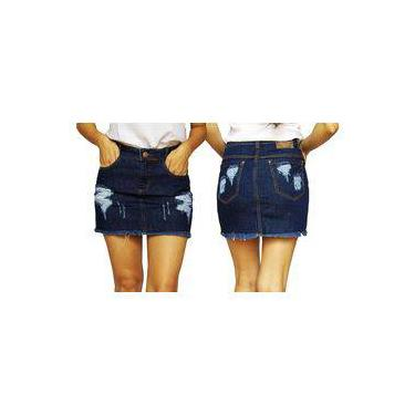 Saias Jeans Curta Hot Pants Lycra Stretch Luxo