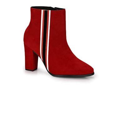 Bota Feminina Beira Rio Ankle Boot Vermelho 9043.120 Vermelho 37