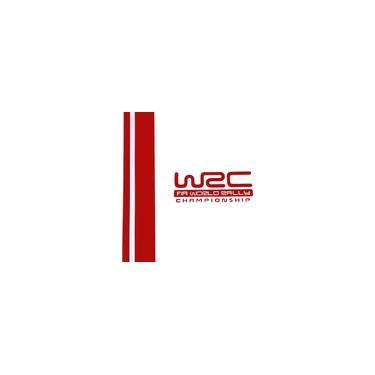 Par wrc Stripe Car Covers Car cabeça de vinil Corridas Desporto Decal Adesivo para Ford Focus vw Cruze Renault Red