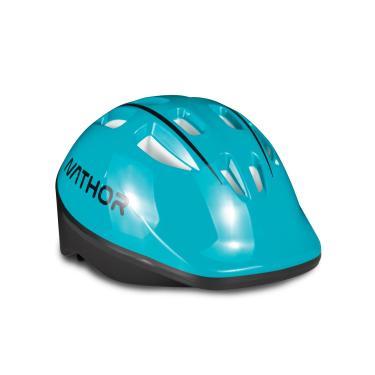Capacete Infantil Para Bicicleta - Nathor Azul Turquesa