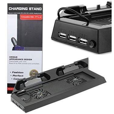 Base Vertical Cooler PlayStation 4 Fat Carregador 2 Controle