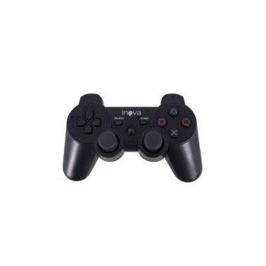 Controle Dualshock Inova Ps3 Sem Fio Wireless Bluetooth - Preto