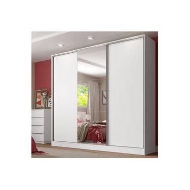 cacc260c18f84 Guarda-Roupa Casal com Espelho Madesa Royale 3 Portas de Correr
