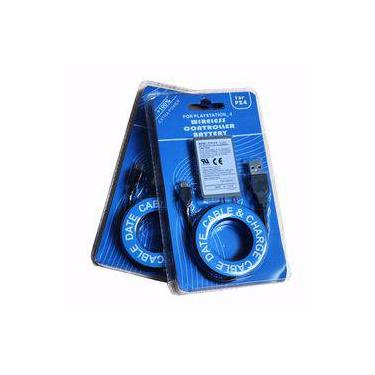 Kit Bateria Controle 4 Ps4 Dualshock 2000mh 3,7vV Cabo