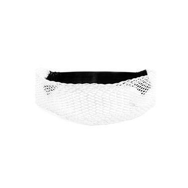 Headband Largo Transado Branco