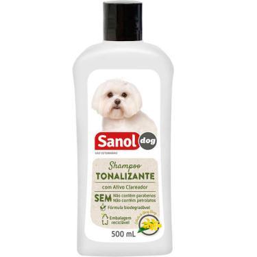 Shampoo Sanol Dog Tonalizante para Pelos Claros - 500ml