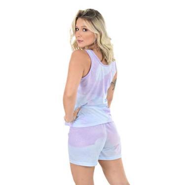 Baby Doll Tie Dye 4 Estações Pijama Adulto Dormir Feminino (M)