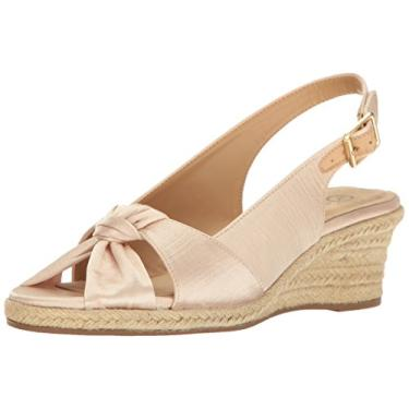 Bella Vita Sandália feminina Seraphina Ii Espadrille Wedge, Natural Silk, 11 Narrow