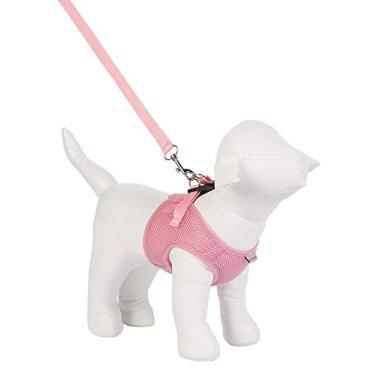 Imagem de Peitoral Urban Puppy para Cães Colete Aerado Rosa - Tamanho G