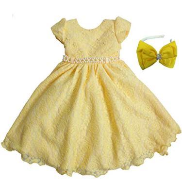 Vestido de Festa Baby Rendando Bela Luxo Com Tiara M - 2
