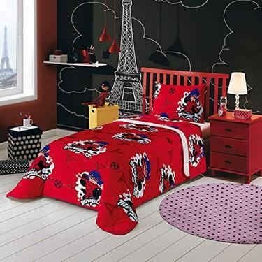 c8e8a8a94b Colcha Matelasse Solteiro Lepper Ladybug Vermelha 1.50 mx2.10 m Algodão  Tradicional