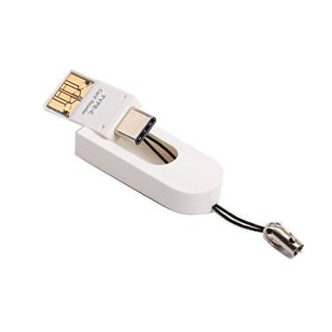 kesoto Adaptador de Leitor de Cartão de Memória USB 2.0 10 MB/S Leitor de Cartão Tipo C para Micro TF/SD - 64 GB