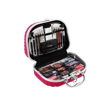 Imagem de Maleta De Maquiagem Completa - KIT com paleta de sombras beleza / Blush - Makes incriveis