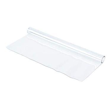 Imagem de Yardwe — Toalha de mesa transparente retangular à prova d'água de plástico toalha de mesa 80 x 80 cm