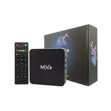 TV BOX MX9 Aparelho Para Transformar Em Smart TV/  Conversor Smart Tv Box Mx9 4K Ultrahd Wi-Fi Android