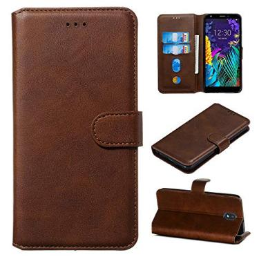 Capa carteira para Galaxy Note 20 Ultra de couro PU flip suporte compartimentos de crédito capa para Samsung Galaxy Note 20 Ultra - Marrom