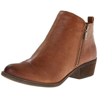 Lucky Brand Women's Basel Ankle Bootie Toffee Tan Leather Ankle Boots (8.5, Toffee)