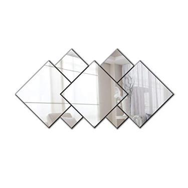 Espelho Decorativo Em Acrílico   7 Peças Sala Quarto