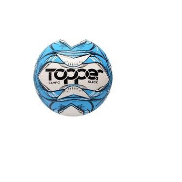 Bola Futebol Campo Oficial Topper Slick Azul