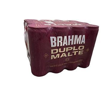 Cerveja Brahma Duplo Malte Lata Sleek 350ml, caixa com 12 unidades Brahma Duplo Malte 350