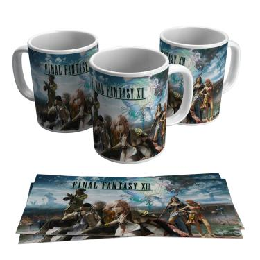 Caneca Final Fantasy XIII Jogo RPG Vídeo Game Geek Gamer PC